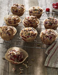Raspberry Coconut and Chia Muffins