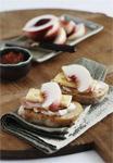 Peach and Ham Crispbreads
