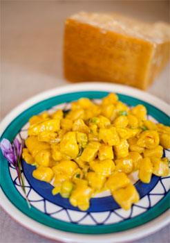 Ricotta, Parmigiano Reggiano and Saffron Dumplings