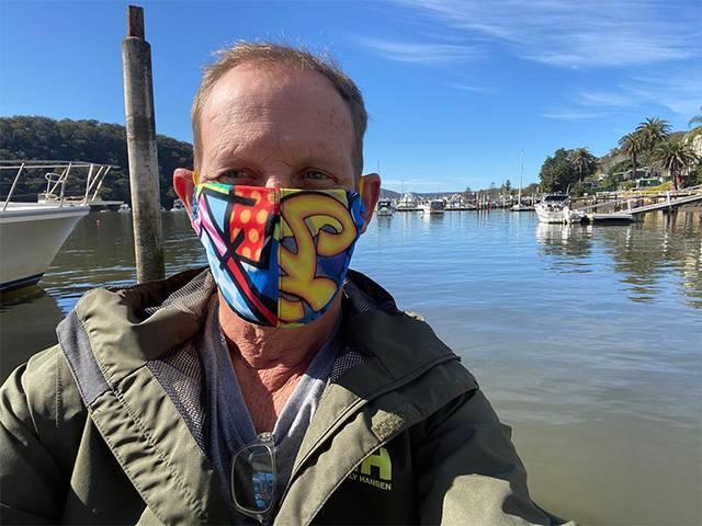Todd McKenney Masks support entertainment industry